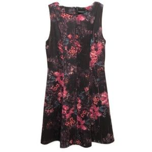 Cynthia Rowley Scuba Floral Fit and Flare Dress J6